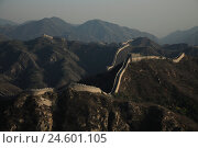 Купить «China, Badaling, mountain landscape, tallness, defensive wall, dusk, Asia, culture, architecture, scenery, mountain crests, mountaintops, ridges, mountains...», фото № 24601105, снято 21 декабря 2007 г. (c) mauritius images / Фотобанк Лори