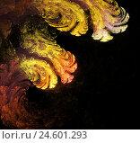 Фрактальная абстракция. Разводы краски, млечный путь. Стоковая иллюстрация, иллюстратор Евгений Беляев / Фотобанк Лори