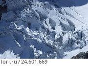 Купить «Switzerland, Valais, Cerium-weakly, small Matterhorn, Theodulgletscher, glacier rupture,», фото № 24601669, снято 28 октября 2008 г. (c) mauritius images / Фотобанк Лори