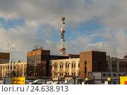 Купить «Вышка мобильной связи. Самара», фото № 24638913, снято 11 декабря 2016 г. (c) Акиньшин Владимир / Фотобанк Лори