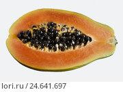 Купить «Papaya fruit, halves, cut out, fruit, papaya, fruit, cut open, healthy, fragrantly, studio, food,», фото № 24641697, снято 15 ноября 2010 г. (c) mauritius images / Фотобанк Лори