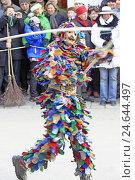 Купить «Carnival procession, mask, Goaßlschnalzer,», фото № 24644497, снято 15 марта 2011 г. (c) mauritius images / Фотобанк Лори