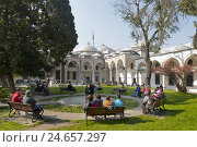 Купить «Turkey, Istanbul, Topkapi Saray, the third palace court, relic houses, hall the holy relics,», фото № 24657297, снято 15 марта 2012 г. (c) mauritius images / Фотобанк Лори