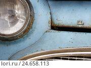 Купить «Car, detail, headlight, Lloyd Oldtimer, light blue, rust, medium close-up,», фото № 24658113, снято 20 августа 2018 г. (c) mauritius images / Фотобанк Лори