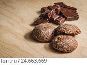 Печенье и шоколад. Стоковое фото, фотограф Константин Скуридин / Фотобанк Лори