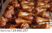 Купить «Processing of meat production. raw chicken meat», видеоролик № 24666257, снято 30 сентября 2016 г. (c) Илья Насакин / Фотобанк Лори