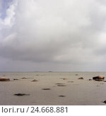 Купить «Denmark, island Samsö, the Baltic Sea, beach, low tide, rain clouds,», фото № 24668881, снято 11 февраля 2008 г. (c) mauritius images / Фотобанк Лори