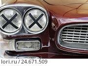 Купить «Car, vintage car, headlight, radiator grille, close-up, detail,», фото № 24671509, снято 16 августа 2018 г. (c) mauritius images / Фотобанк Лори