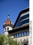 Купить «Building in Barcelona, Spain, Europe,», фото № 24683753, снято 26 апреля 2018 г. (c) mauritius images / Фотобанк Лори