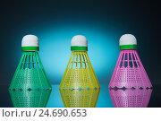 Три цветных воланчика. Стоковое фото, фотограф Харкин Вячеслав / Фотобанк Лори
