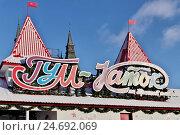 Купить «ГУМ-каток на Красной площади в Москве», эксклюзивное фото № 24692069, снято 15 декабря 2016 г. (c) Илюхина Наталья / Фотобанк Лори