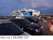 Купить «Ferries in Rafina harbor, Attica, Greece», фото № 24698137, снято 19 сентября 2016 г. (c) Знаменский Олег / Фотобанк Лори
