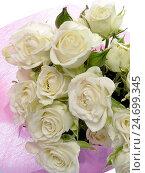 Букет из белых роз. Стоковое фото, фотограф VIACHESLAV KRYLOV / Фотобанк Лори
