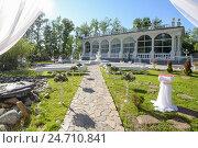 Купить «Wedding decoration ceremony», фото № 24710841, снято 2 июля 2016 г. (c) Алексей Суворов / Фотобанк Лори
