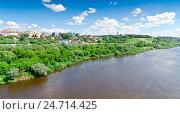 Купить «Панорамный вид на набережную города Калуга», фото № 24714425, снято 30 мая 2016 г. (c) Рожков Юрий / Фотобанк Лори