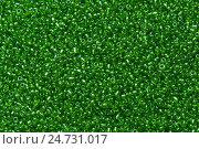Зеленый бисерный фон. Стоковое фото, фотограф Владимир Булгаков / Фотобанк Лори