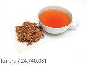 Купить «Medicinal tea made of t he dried blossoms of medicinal plant Albizzia», фото № 24740081, снято 18 января 2019 г. (c) age Fotostock / Фотобанк Лори