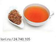 Купить «Medicinal tea made of t he dried blossoms of medicinal plant Albizzia», фото № 24740105, снято 18 января 2019 г. (c) age Fotostock / Фотобанк Лори