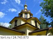 Купить «Княже-Владимирская церковь в Отрадном. Северный бульвар, напротив дома 21. Москва», эксклюзивное фото № 24743873, снято 17 августа 2016 г. (c) lana1501 / Фотобанк Лори