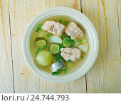 Купить «Russian fish solyanka soup», фото № 24744793, снято 10 декабря 2016 г. (c) Александр Fanfo / Фотобанк Лори