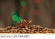 Зерна кофе на столе. Стоковое фото, фотограф Глыцко Андрей / Фотобанк Лори