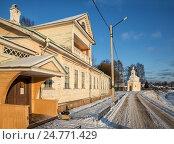 Купить «Дом-музей Н.А.Римского-Корсакова в Тихвине», эксклюзивное фото № 24771429, снято 4 января 2016 г. (c) Юлия Бабкина / Фотобанк Лори