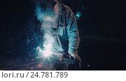 Smith welding metal details. Стоковое видео, видеограф Chudakov_Ivan / Фотобанк Лори