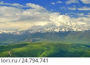 Купить «Эльбрус в облаках», фото № 24794741, снято 30 июня 2016 г. (c) александр жарников / Фотобанк Лори