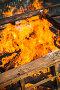 Close-up photo of burning wooden boxes, фото № 24798441, снято 1 октября 2016 г. (c) Евгений Сергеев / Фотобанк Лори