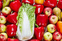 Пекинская капуста, яблоки и сладкий перец, фото № 24798625, снято 3 мая 2016 г. (c) Олег Шкуратов / Фотобанк Лори