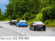 Купить «Sport cars BMW F30 3-series, BMW F80 M3 and Audi TT», фото № 24799401, снято 29 июля 2014 г. (c) Art Konovalov / Фотобанк Лори