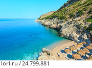 Купить «Summer Ionian sea coast, Albania.», фото № 24799881, снято 12 июля 2016 г. (c) Юрий Брыкайло / Фотобанк Лори