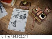 Купить «Эскиз ретро-футуристической модели фотоаппарата», фото № 24802241, снято 2 декабря 2013 г. (c) Валерий Александрович / Фотобанк Лори