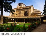 Church of San Pedro de la Rua at Estella. Navarre. Стоковое фото, фотограф Яков Филимонов / Фотобанк Лори