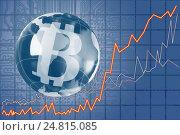 Купить «The concept of e-commerce growth rate. Cryptocurrency Bitcoin.», фото № 24815085, снято 5 января 2017 г. (c) Александр Якимов / Фотобанк Лори