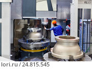 Купить «Machining Centre, CNC, Vertical lathe, Design, manufacture and installation of machine tools, Gipuzkoa, Basque Country, Spain, Europe», фото № 24815545, снято 28 октября 2016 г. (c) age Fotostock / Фотобанк Лори