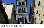 Купить «Santa Justa Lift in city of Lisbon, Portugal», видеоролик № 24817837, снято 28 октября 2016 г. (c) BestPhotoStudio / Фотобанк Лори