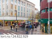 Купить «Замковое место, улица в Белфасте, Северная Ирландия», фото № 24822929, снято 29 октября 2016 г. (c) Ольга Марк / Фотобанк Лори