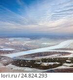 Купить «Ледоход на реке Обь», фото № 24824293, снято 5 ноября 2012 г. (c) Владимир Мельников / Фотобанк Лори