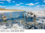 In the vicinity of the salt lake Baskunchak. Стоковое фото, фотограф Валерий Смирнов / Фотобанк Лори