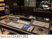 Купить «music mixing console at sound recording studio», фото № 24831093, снято 18 августа 2016 г. (c) Syda Productions / Фотобанк Лори