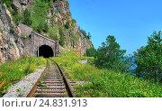 Купить «Тоннель на Кругобайкальской железной дороге. Иркутская область. Россия», фото № 24831913, снято 29 июля 2016 г. (c) Виктор Никитин / Фотобанк Лори