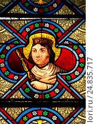 Купить «Portrait of Sainte Adelaïde (931-999) in church of Givardon (Cher)», фото № 24835717, снято 22 августа 2011 г. (c) age Fotostock / Фотобанк Лори