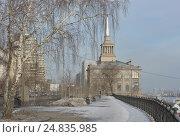 Купить «Речной вокзал города Красноярска», фото № 24835985, снято 10 марта 2016 г. (c) Светлана Грызлова / Фотобанк Лори