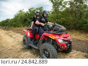 Купить «Tudora, Republic of Moldova, Border police Politia de Frontiera at the green border», фото № 24842889, снято 30 августа 2016 г. (c) Caro Photoagency / Фотобанк Лори