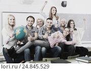 Купить «Portrait of teacher and students», фото № 24845529, снято 20 апреля 2018 г. (c) Яков Филимонов / Фотобанк Лори