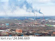 The industrial part of the city Norilsk. Стоковое фото, фотограф Андрей Радченко / Фотобанк Лори