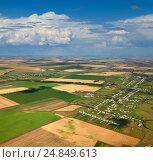 Купить «Татария летом, вид сверху», фото № 24849613, снято 23 июля 2013 г. (c) Владимир Мельников / Фотобанк Лори