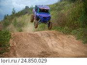 Купить «Шумейко Давид 13 (Закрытый парк),класс ATV, 4 Этап Кубка XSR-MOTO.RU по Кантри Кроссу, мотопарк Вельяминово. Репортаж», фото № 24850029, снято 10 сентября 2016 г. (c) Pukhov K / Фотобанк Лори