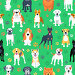 Seamless pattern with dogs flat design, иллюстрация № 24856605 (c) Коваленкова Ольга / Фотобанк Лори